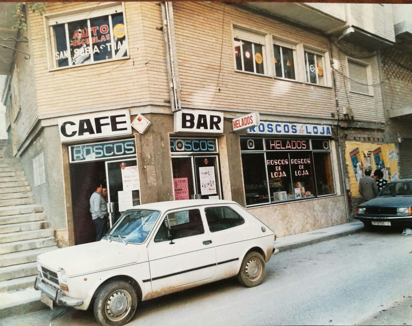 cafe bar quintana fachada años 80
