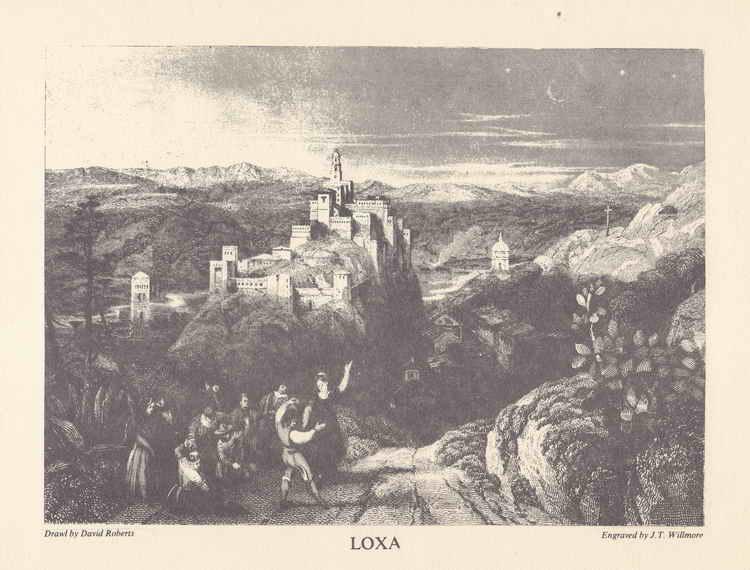grabado de david roberts de 1835 de Loxa